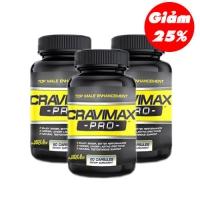 Combo 3 sản phẩm cravimax-pro hỗ trợ chống xuất tính sớm